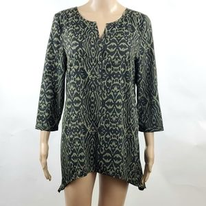 14th and Union Womans Blouse Top Size Small V-Neck